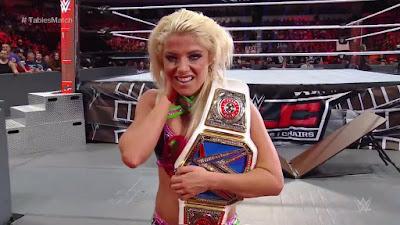 Alexa Bliss Becky Lynch WWE TLC Tables Ladders Chairs Women's Championship
