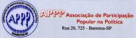 Resumo Final da Reunião Ordinária da APPP de Barretos-SP em 17 de fevereiro de 2016 - Logotipo da APPP