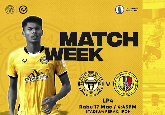 Live Streaming Perak 2 vs Negeri Sembilan Liga Perdana 17.3.2021