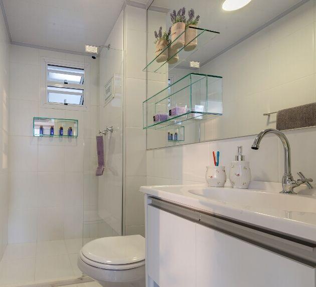 Lar Doce Ana Como aumentar espaço em banheiros pequenos -> Banheiro Pequeno Com Espelho Ate O Teto