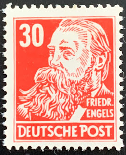 Germany 1948 SBZ Famous People - Köpfe - Friedrich Engels