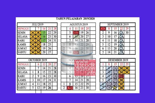 Kalender Pendidikan Provinsi Kalimantan Barat Tahun Pelajaran 2019/2020