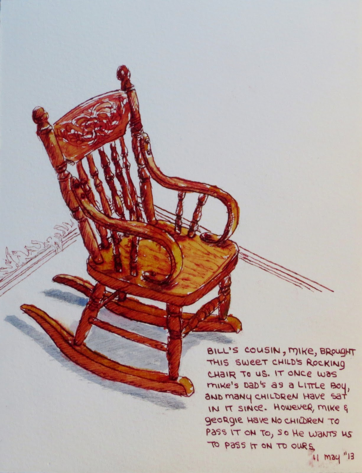 Grandma Rocking Chair Wrought Iron Patio Glides Vicky L Williamson W 39s