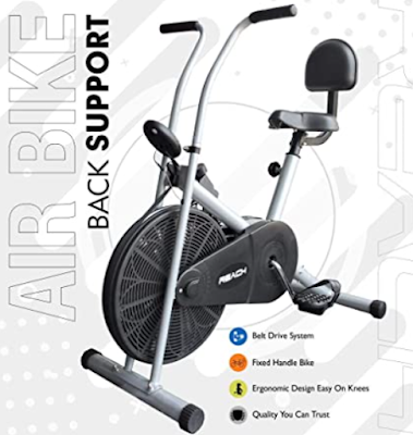 Reach Air Bike Exercise Home Gym Cycle Cardio Fitness Machine for Weight Loss & Maintain Fitness