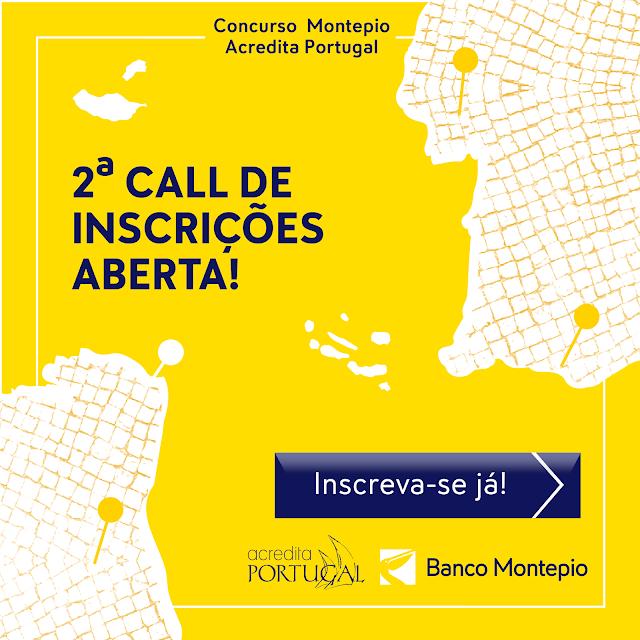 2ª Call Concurso Montepio Acredita Portugal a ajudar empreendedores