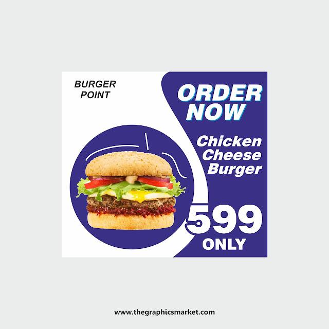 Burger Banner Design, banner design,  the graphics market,