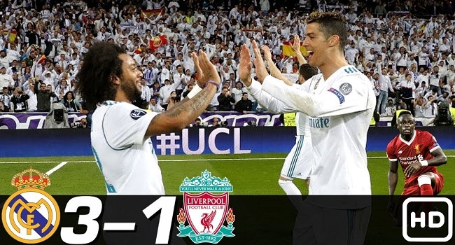 cuplikan gol real madrid vs liverpool 27 mei 2018 3-1