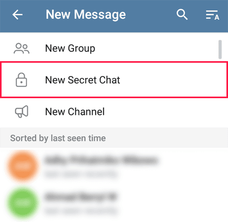 new secret chat telegram