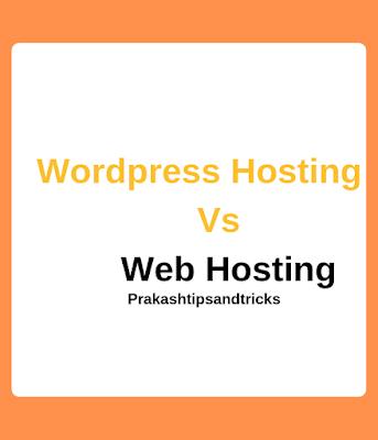 Web Hosting VS Wordpress Hosting