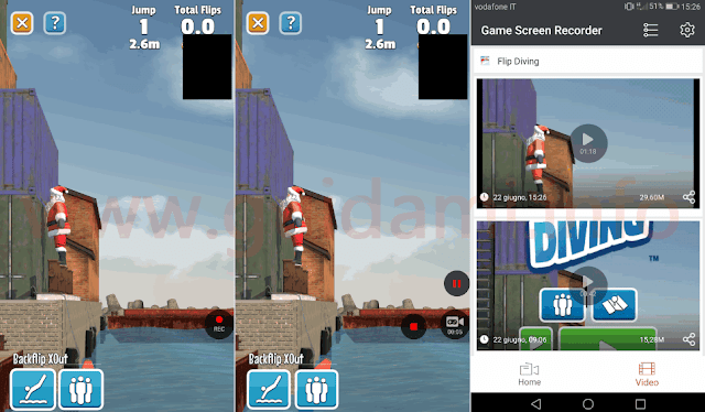 Android app Game Screen Recorder schermata registrazione e video