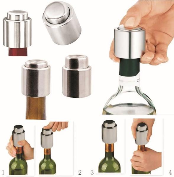 Wine Bottle Stoppers: Drink Preserver Bar Pump Sealers - Vacuum Sealed Covers for 750ml Bottles