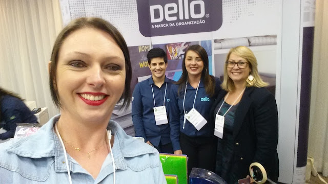 Com a representantes da empresa Dello, super parceira das blogueiras e Personal Organizers!