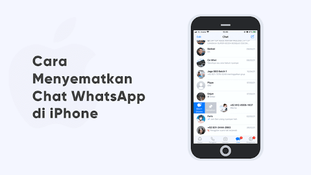 cara sematkan chat wa di iphone