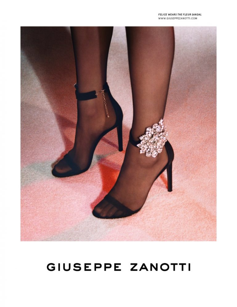 Giuseppe Zanotti Fleur sandal featured in fall-winter 2019 campaign