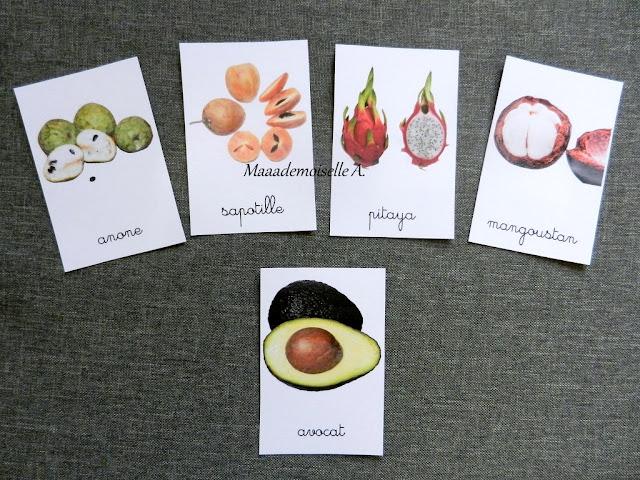 || Mise à jour des cartes de nomenclature - Fruits