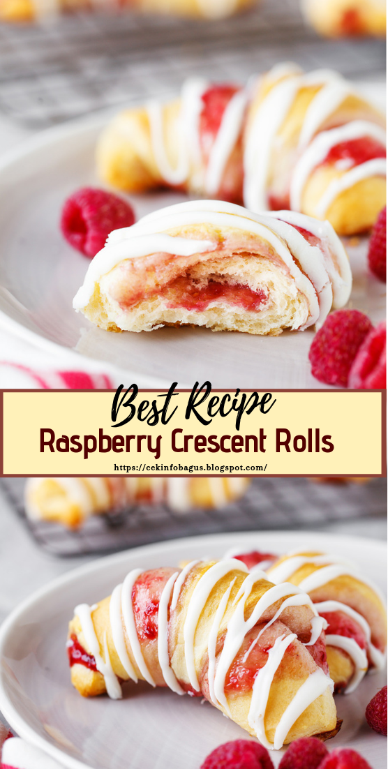 Raspberry Crescent Rolls #desserts #cakerecipe #chocolate #fingerfood #easy