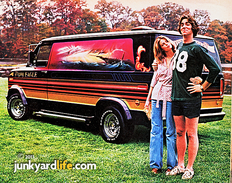 Smug dude looks popular in this BF Goodrich tire ad that featured a 1970s custom van.