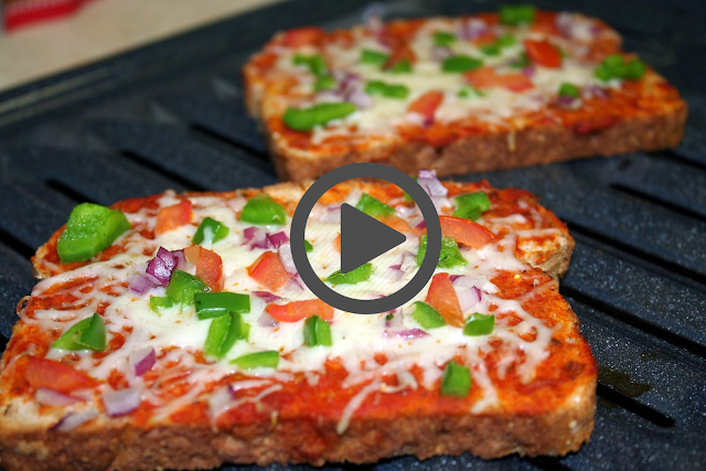 Bread Pizza Recipe | Quick and Easy Bread Pizza