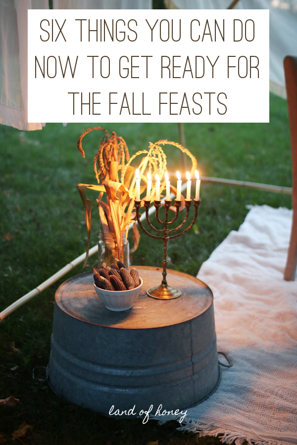 Six easy things that you can do today to get ready for the Fall Feasts and upcoming Biblical holidays | Land of Honey