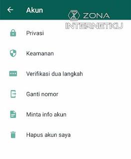 Menghapus Akun Whatsapp