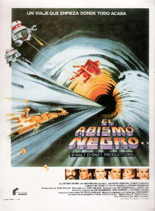 El abismo negro, The black hole, Disenye, Robert Forster, Gary Nelson, Anthony Perkins