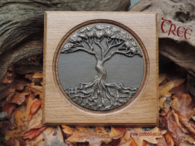 Tree of Life bronze and oak wall plaque
