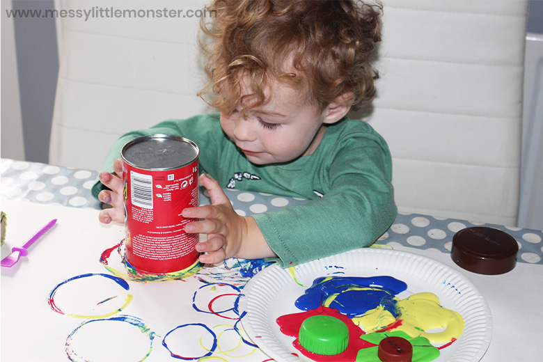 circle painting for toddlers and preschoolers
