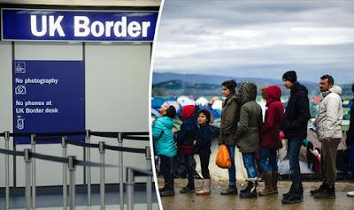 بريطانيا ترفض اعطاء حق اللجوء للذين يمرون عبر بلاد آمنة