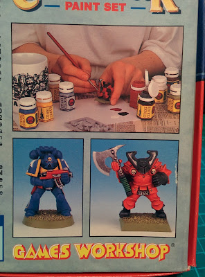 Citadel Colour Paint Set 1994 - Back of box Minis