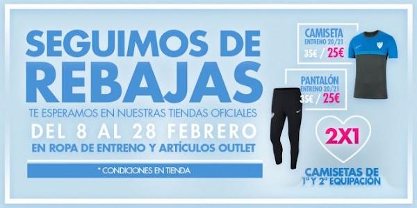 El Málaga sigue manteniendo las rebajas en sus tiendas hasta el 28 de Febrero