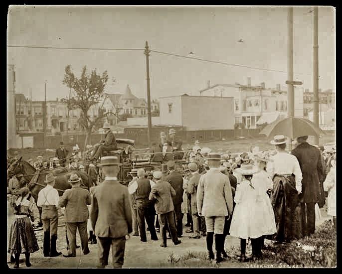 Brooklyn, New York during the trolley car strike in 1899 ...