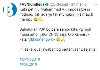 Apakah Bisa Mendaftar P3K, Kemudian Lanjut Mendaftar CPNS 2019