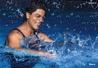 Shah Rukh Khan Swimming Desktop HD Wallpapers