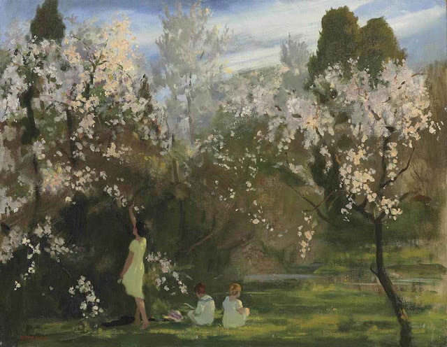 Archibald George Barnes - Children in an Orchard