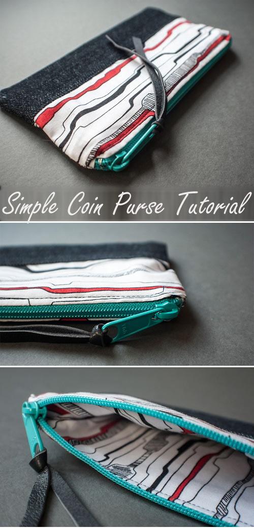 Simple DIY Coin Purse Tutorial