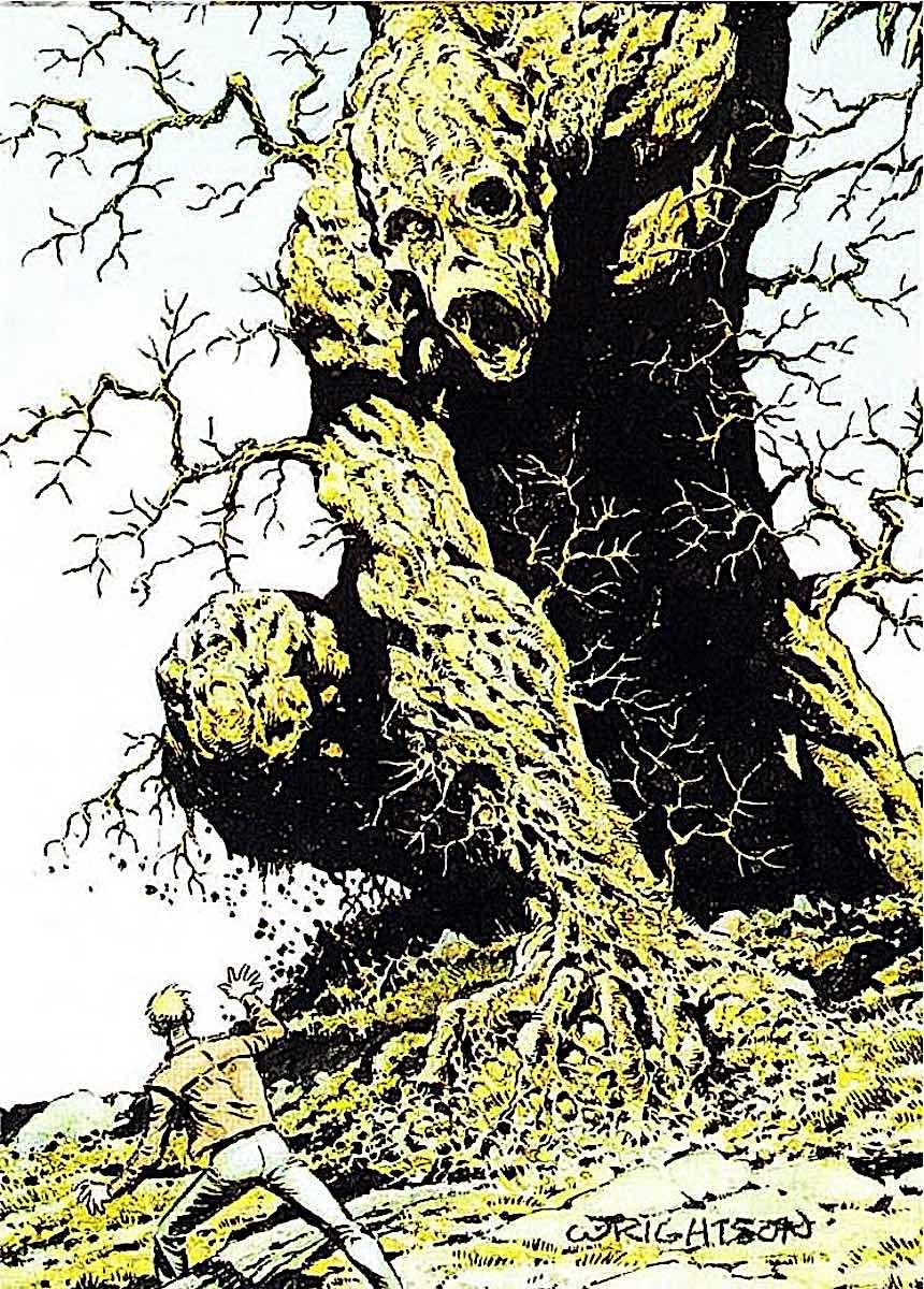 Bernie Wrightson, a giant tree monster