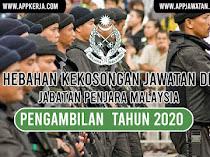 Jawatan Kosong di Jabatan Penjara Malaysia