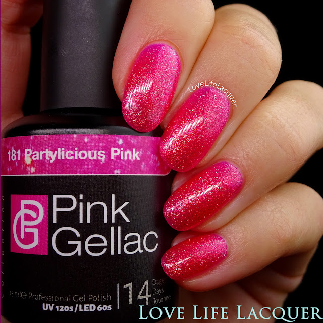 Pink Gellac VIP collection swatches Partylicious Pink