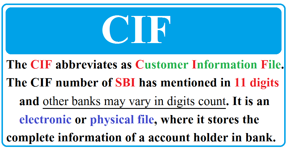 What is a CIF number