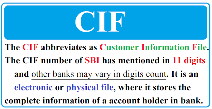 What is a CIF number?