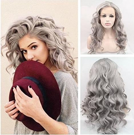 synthetic lace front hair wig