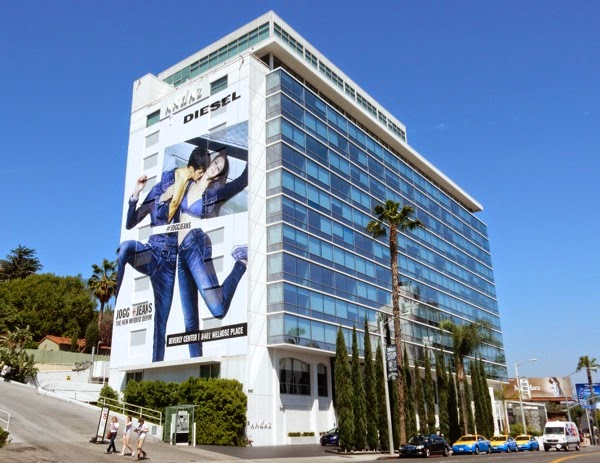 Giant Diesel Jogg Jeans billboard Sunset Strip