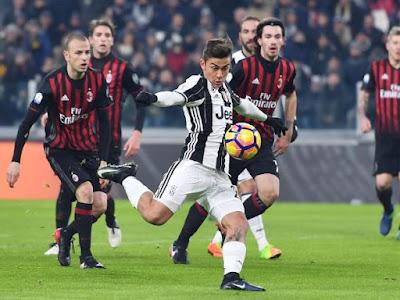 Juventus gana al Milan por 2 a 1