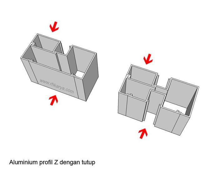 macam macam profil kusen aluminium alumunium untuk pintu jendela. Black Bedroom Furniture Sets. Home Design Ideas