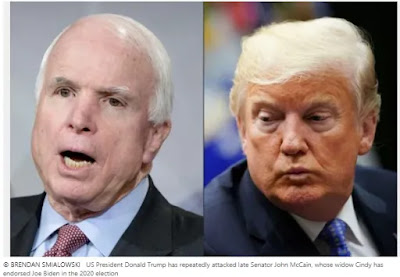 Trump recently attacked McCain after backing Widow Biden