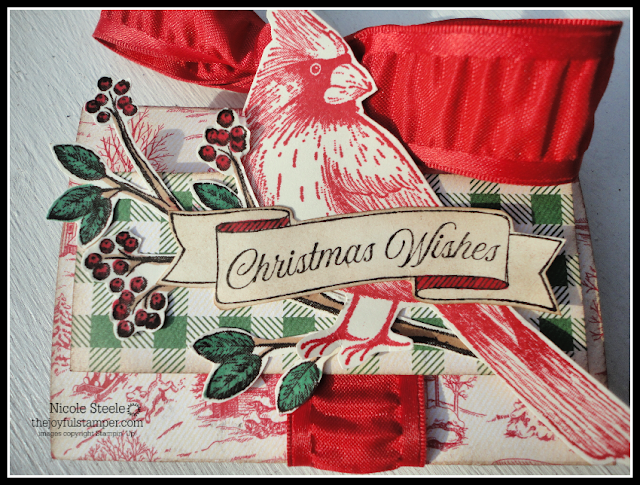 pop up gift card holder | stampin' up!'s toile tidings suite | 5 days of Christmas