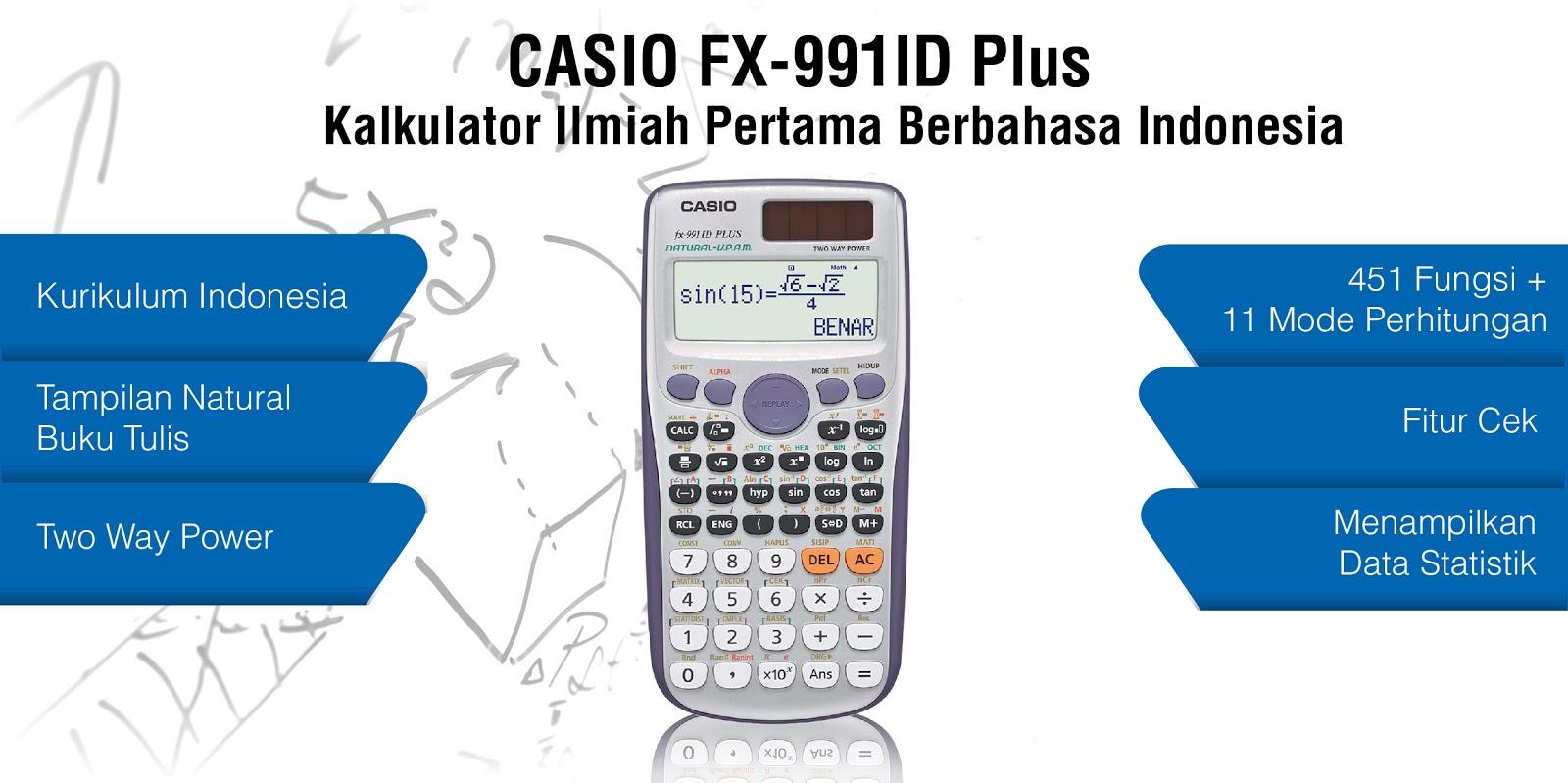 Buyincoins Kalkulator Ilmiah Plus Penutup Geser 3 Baris Ag13 Yh 2000 Casio Fx 991 Id Fx991ex Scientific Calculator Source 991id