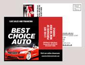 automotive plastic postcard mailer
