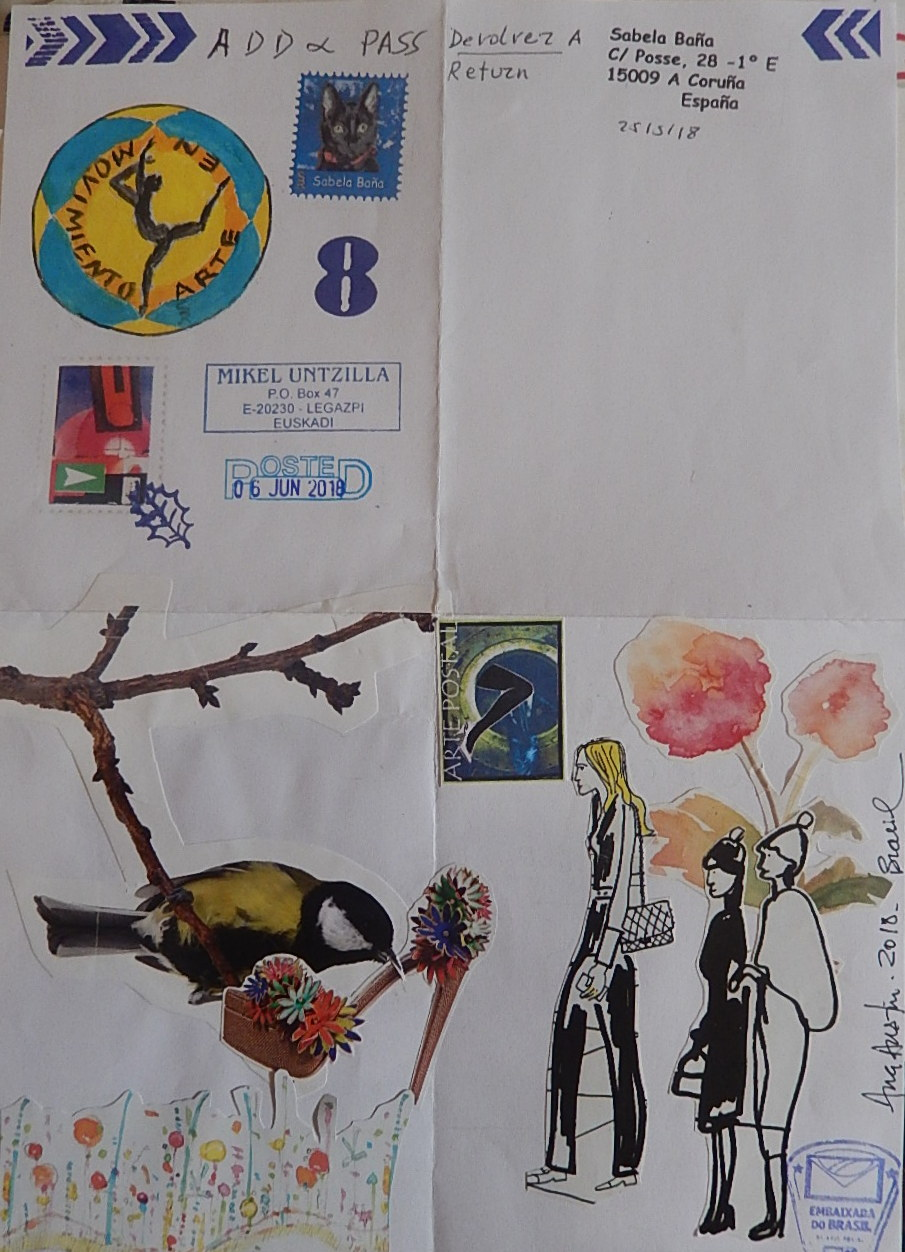 Arte Visual Brasil Sabela Baña Mail Art Y Poesia Visual I Received Mail Art Of Ana