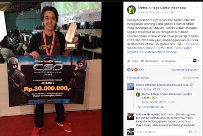 Ternyata si Boy Merupakan Seorang Juara Games Counter Strike